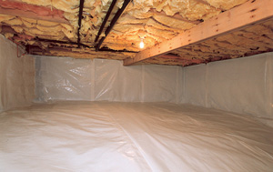 CleanSpace® vapor barrier after in Arlington