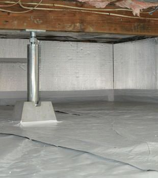 Installed crawl space insulation in Manassas